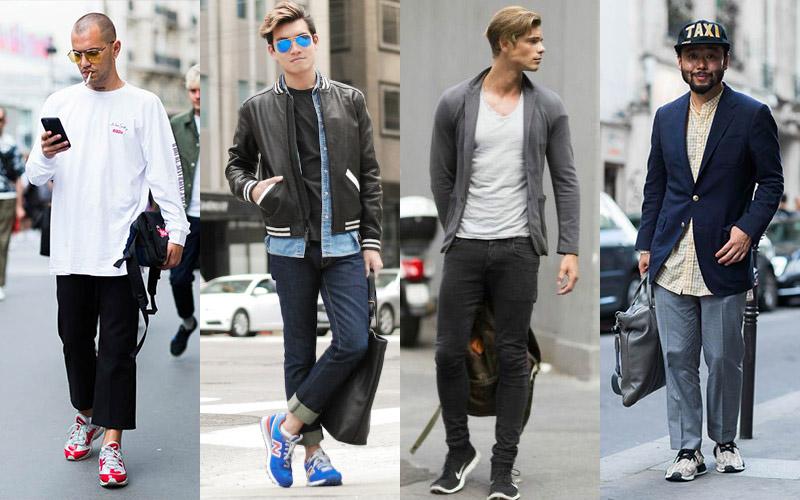 giày nam đẹp running sneakers - elle man