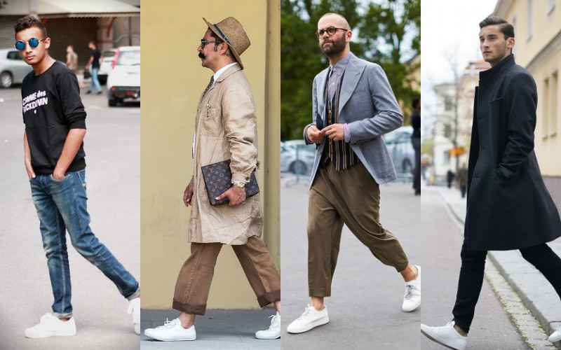 giày nam đẹp low top sneakers - elle man