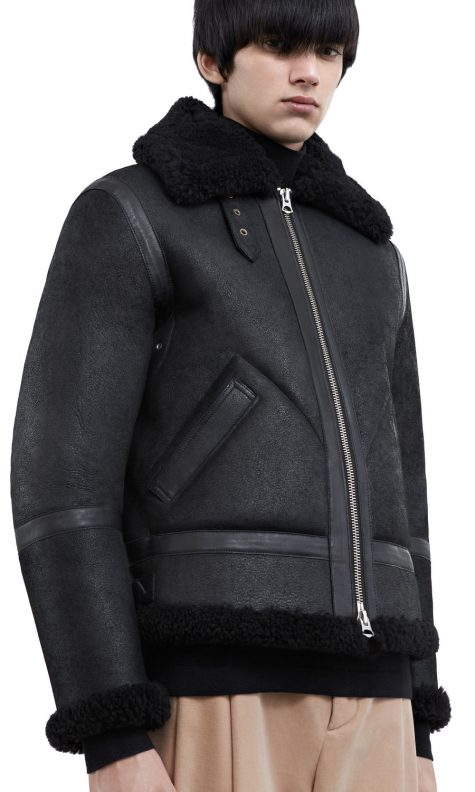 Áo da nam Acne Studios 'Ian Shearling' Leather Jacket