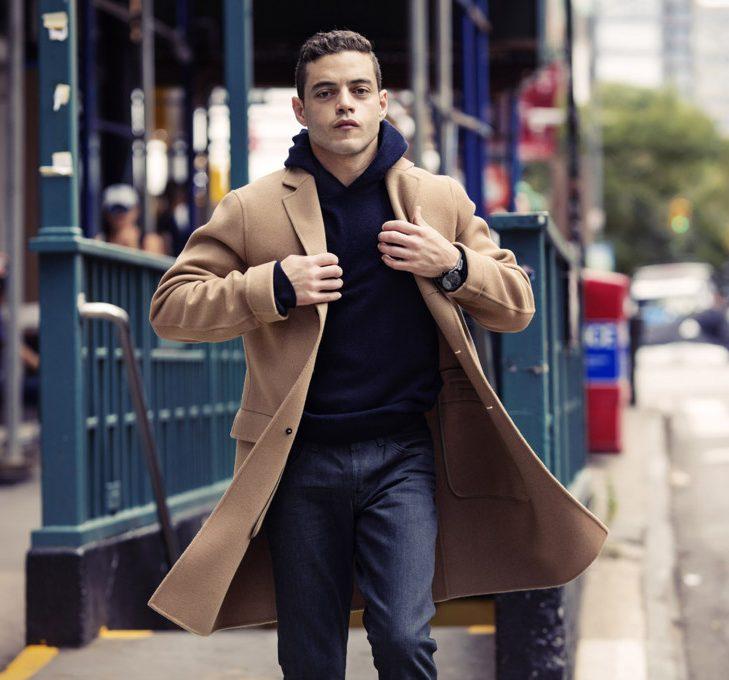 cách phối quần áo lạnh mùa Đông - hoodie + overcoat - elle man