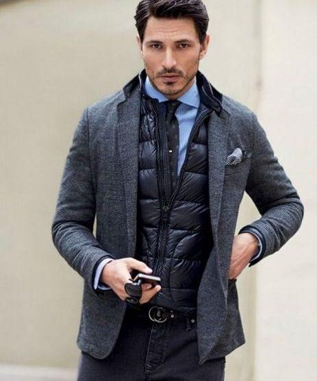 cách phối quần áo lạnh mùa Đông - zip-up track top + coat - elle man