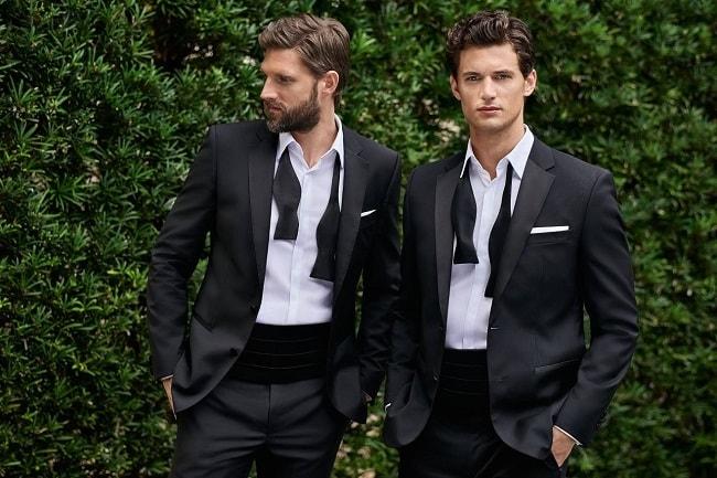 phong cách thời trang black tie- dress shirt - elle man