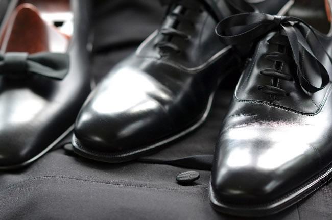 phong cách thời trang black tie- dress shoes - elle man