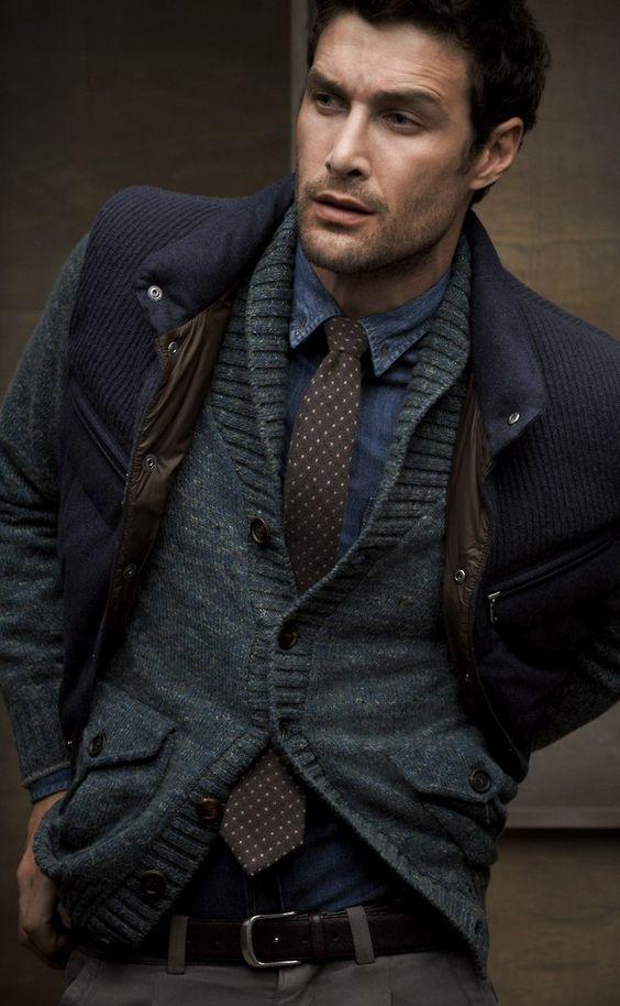 Phong cách thời trang Sáng tạo một chút với phong cách năng động khi mặc áo Cardigan bên trong áo khoác