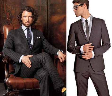 Cách phối quần áo: Narrow Lapels Suits