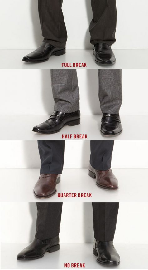 Cách phối quần áo: quarter break or no break pants