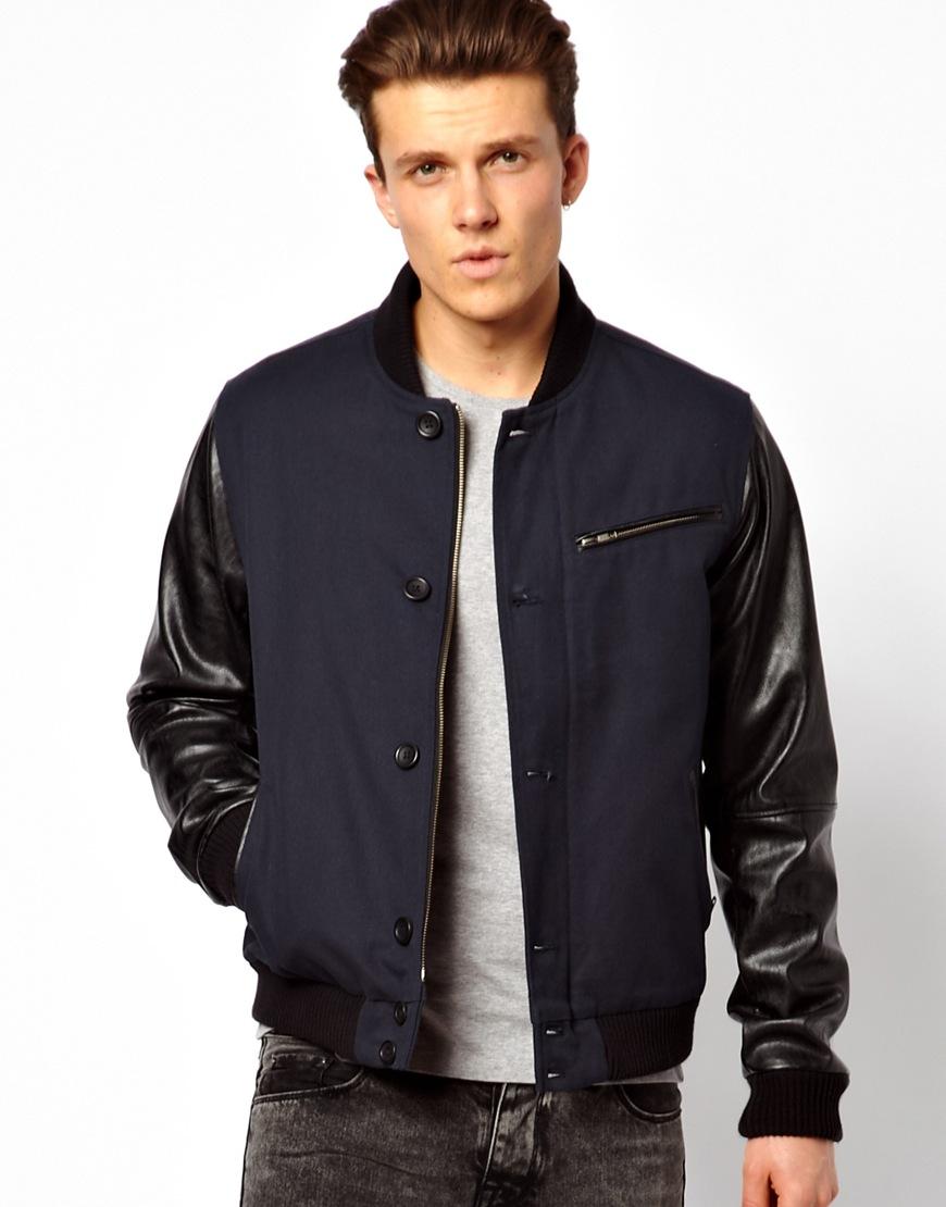 Hay chiếc áo khoác da Bomber với cách tây thời thượng phầy tay áo