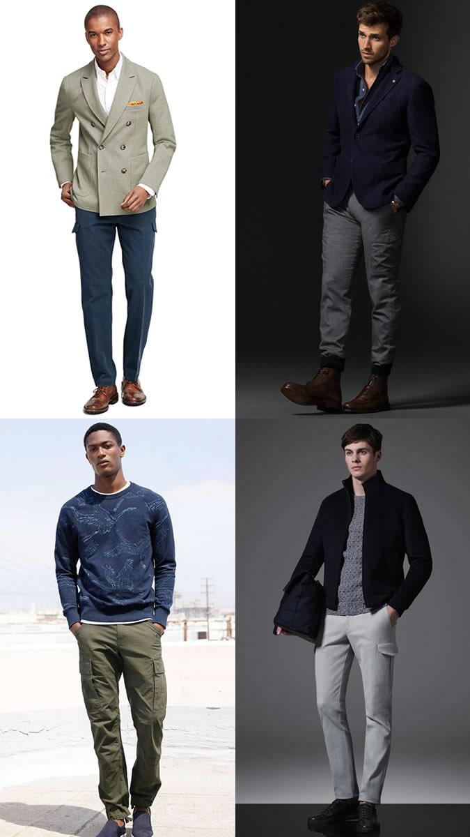 xu hướng thời trang - quần túi hộp - elle man