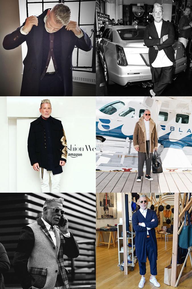 nhà thiết kế thời trang - Nick Wooster - elle man