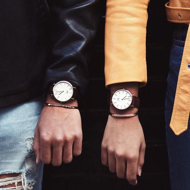 đồng hồ nam DW và classic cuff - elle man