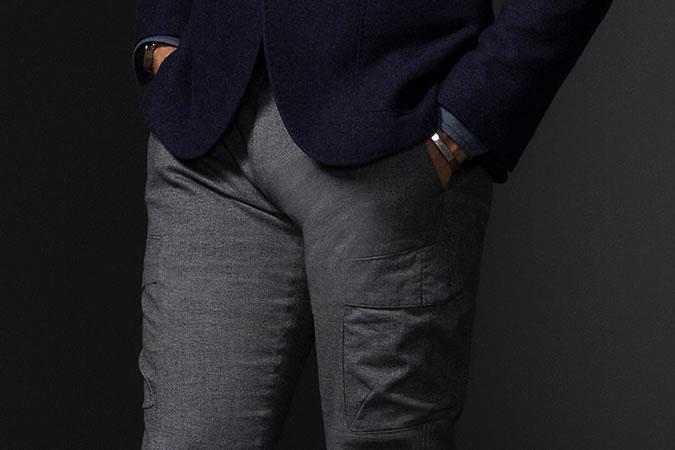 quần túi hộp - phom dáng slim fit - elle man
