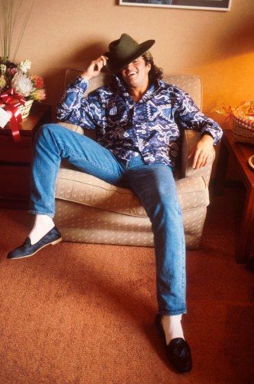 George Michael - Xuất hiện trong một buổi chụp hình tại Úc vào tháng Một, 1985 - elle man