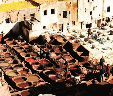 Những bể thuộc da, nhuộm màu da nổi tiếng của phố cổ Fez