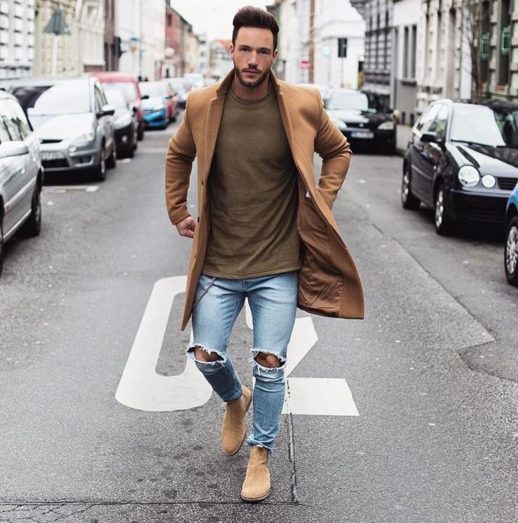 xu hướng thời trang - ripped jeans - elle man