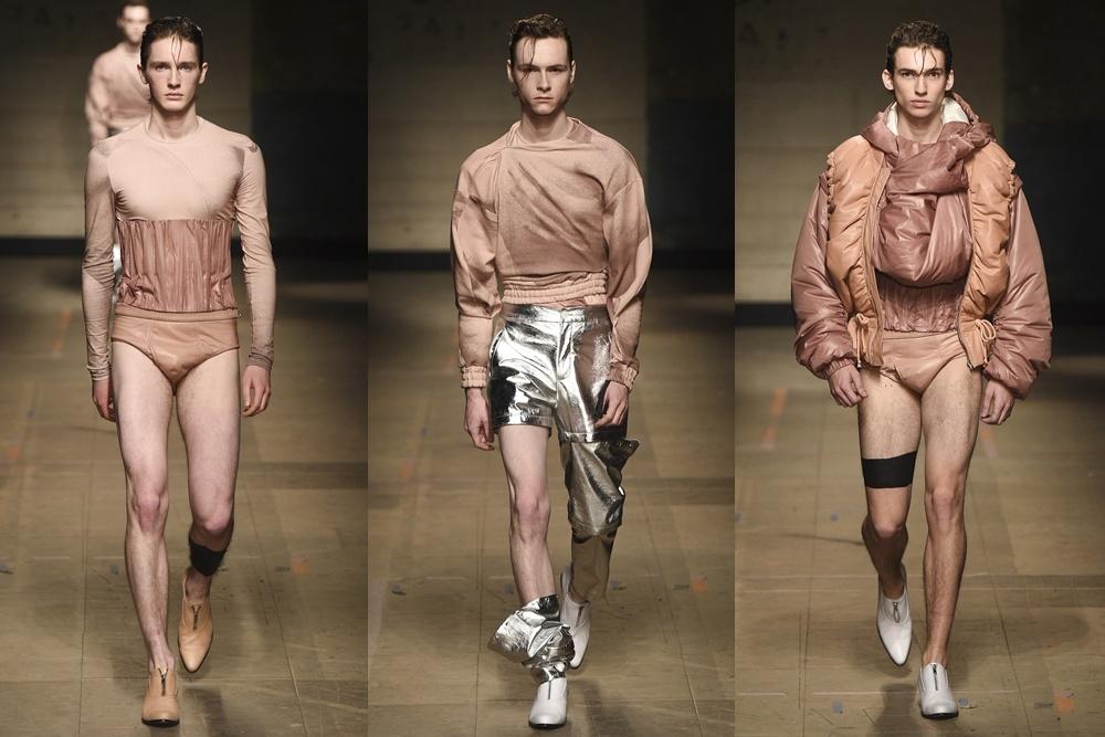 London Fashion Week mở màn bằng thời trang gây sốc cho nam