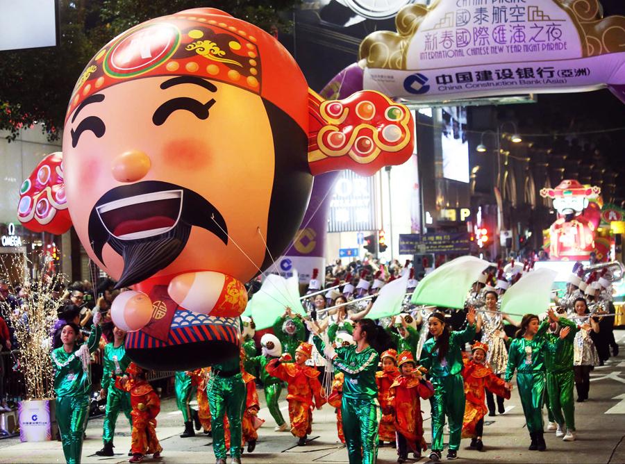 Hong Kong - new year's eve parade 2 - elle man