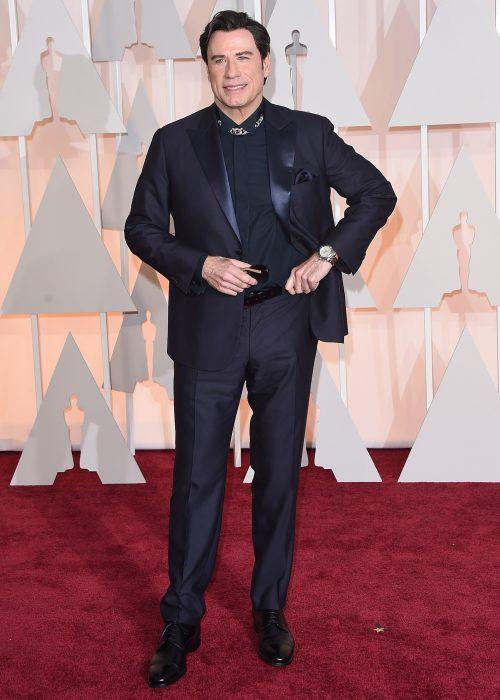 Thoi trang Oscar sao nam - John Travolta 2015