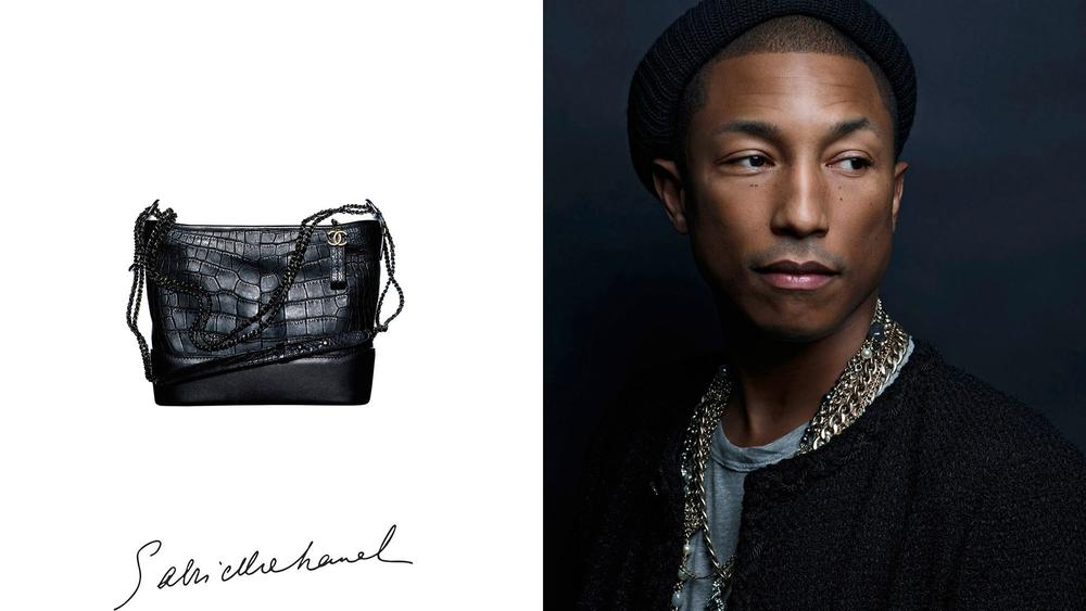 pharrell williams - chanel hadbag ads - elle man 1