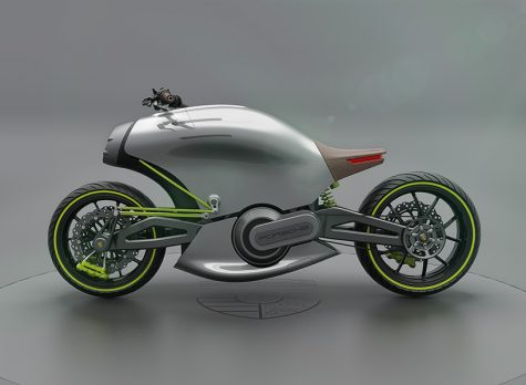 Porsche 618 - Xe mô tô điện của tương lai