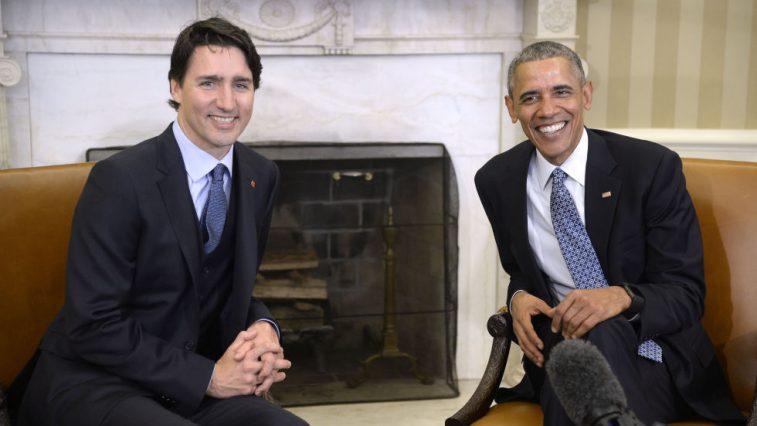 Sự đồng điệu giữa cựu Tổng thống Obama và Thủ tướng Canada