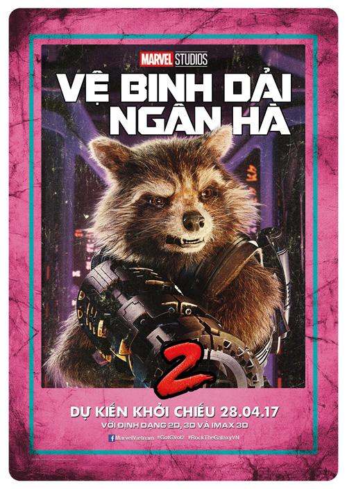 Rocket Raccoon (Bradley Cooper) - ve binh dai ngan ha - elle man