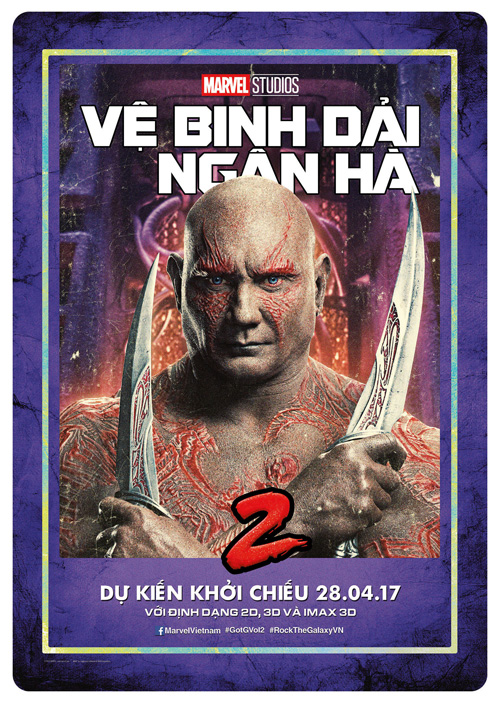 Drax the Destroyer (Dave Bautista) - ve binh dai ngan ha - elle man