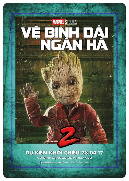 Baby Groot (Vin Diesel) - ve binh dai ngan ha - elle man