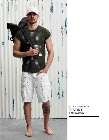 thoi trang hang hieu Y - Armani Exchange casual beach style - elle man 1