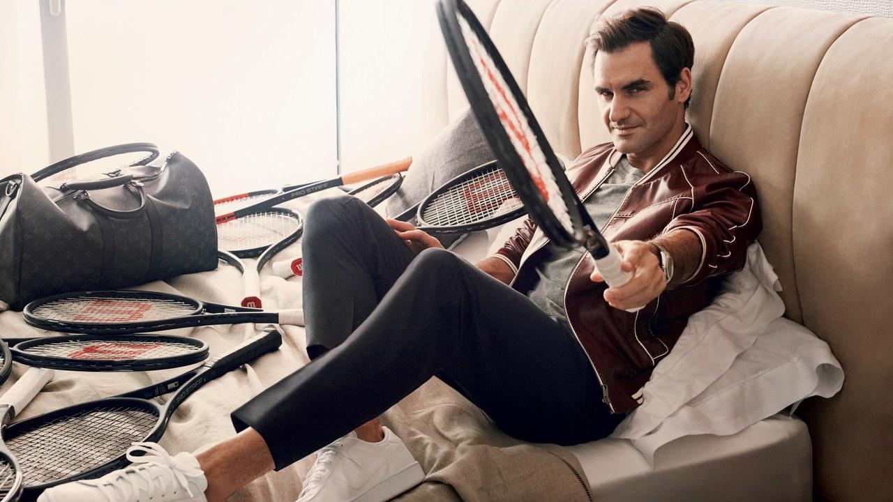 van dong vien - elle man - Roger-Federer