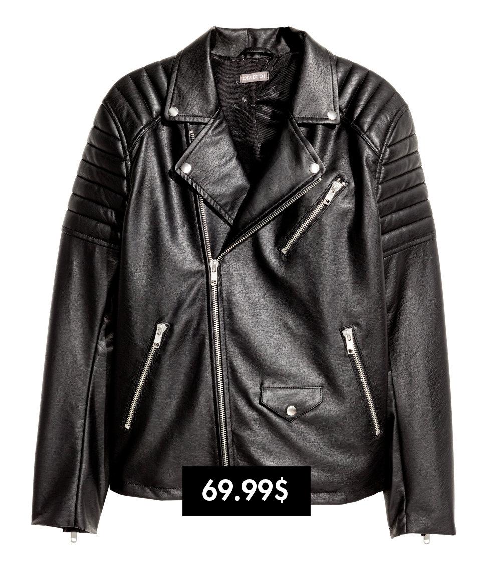 áo khoác biker da H&m elle man
