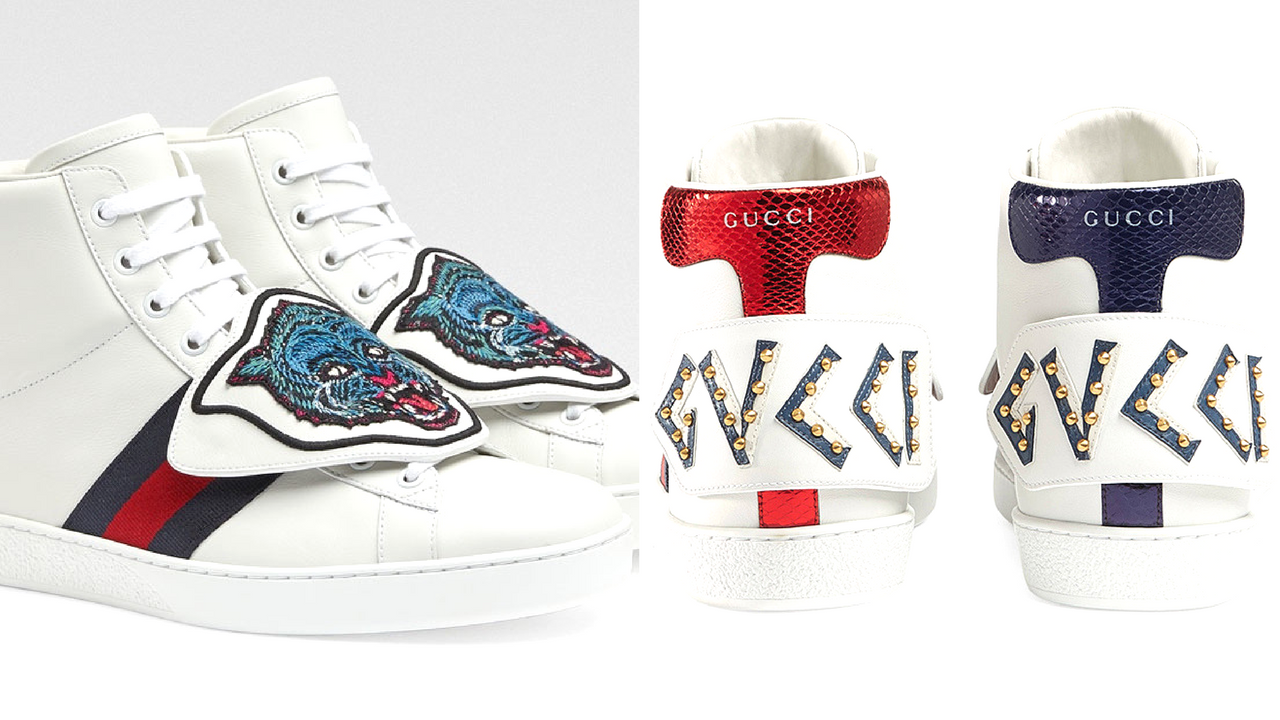gucci giay the thao ace patch sneaker - elle man 1