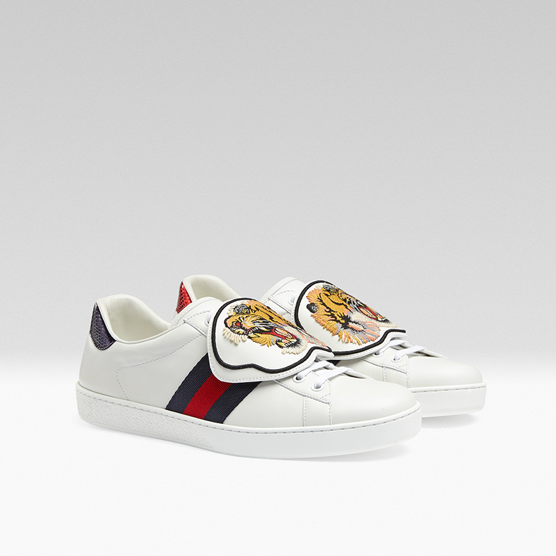 gucci giay the thao ace patch sneaker - elle man 10