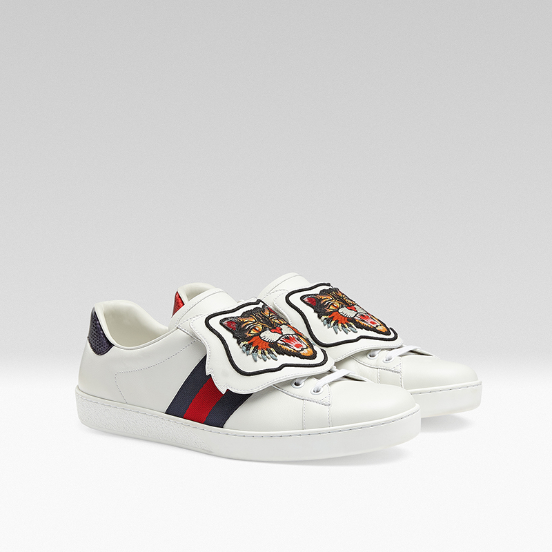 gucci giay the thao ace patch sneaker - elle man 11