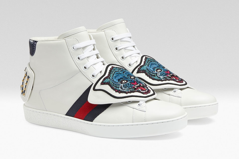gucci giay the thao ace patch sneaker - elle man 7