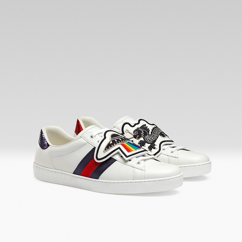gucci giay the thao ace patch sneaker - elle man 8