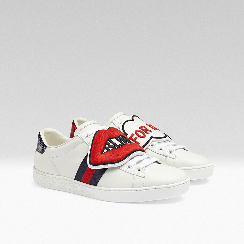 gucci giay the thao ace patch sneaker - elle man 9