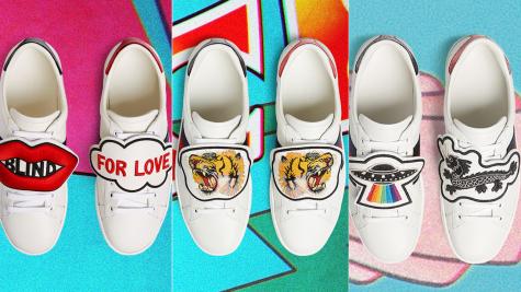 Gucci đề cao cá tính với BST giày thể thao tùy biến Ace Patch sneaker