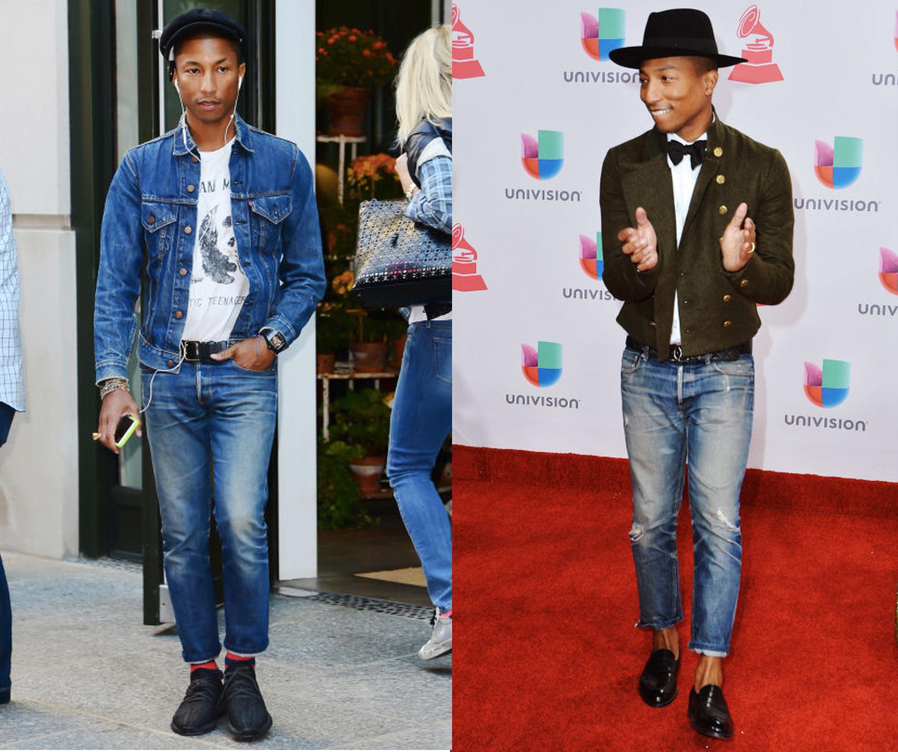 phong cach thoi trang nam - elle man - Pharrell Williams - cach phoi