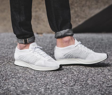giay the thao all-white - nike flyknit racer - elle man 1