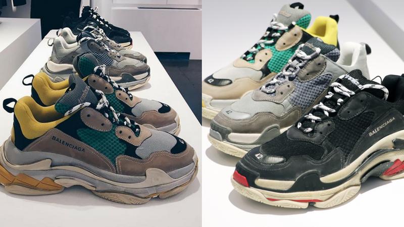 """giay the thao ugly sneakers balenciaga triple s elle man 2 - 9 thiết kế giày thể thao """"Xấu Lạ"""" đáng chú ý nhất hiện nay"""
