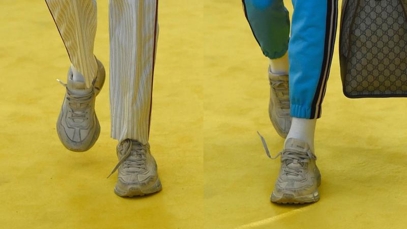 """giay the thao ugly sneakers gucci runner elle man - 9 thiết kế giày thể thao """"Xấu Lạ"""" đáng chú ý nhất hiện nay"""
