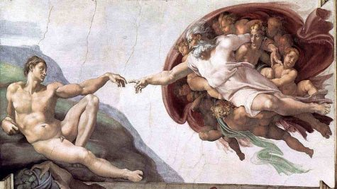 hoi hoa phuc hung The Creation of Adam by Michelangelo - elle man 1