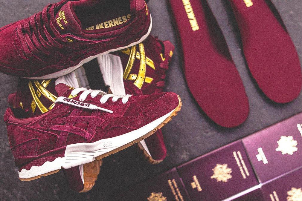 """giày sneakers - elle man - Sneakerness x ASICS GEL-Lyte V """"Passport"""""""