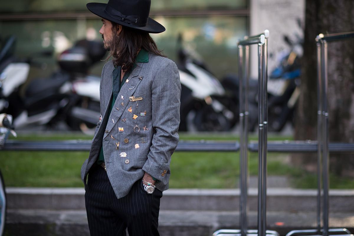 Phong cách đường phố Milan tại tuần lễ thời trang Xuân-Hè 201718elle man.j6