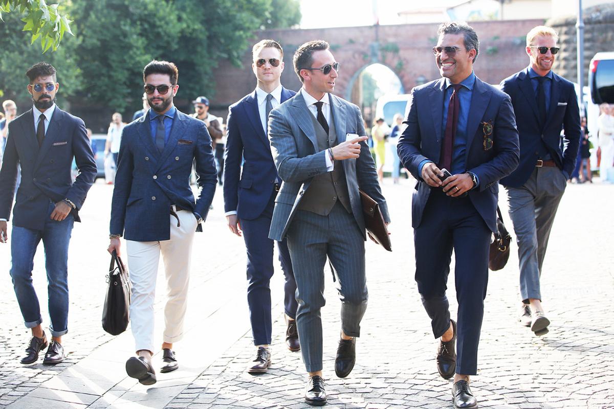 suit nam kiểu Ý tại Pitti Uomo.