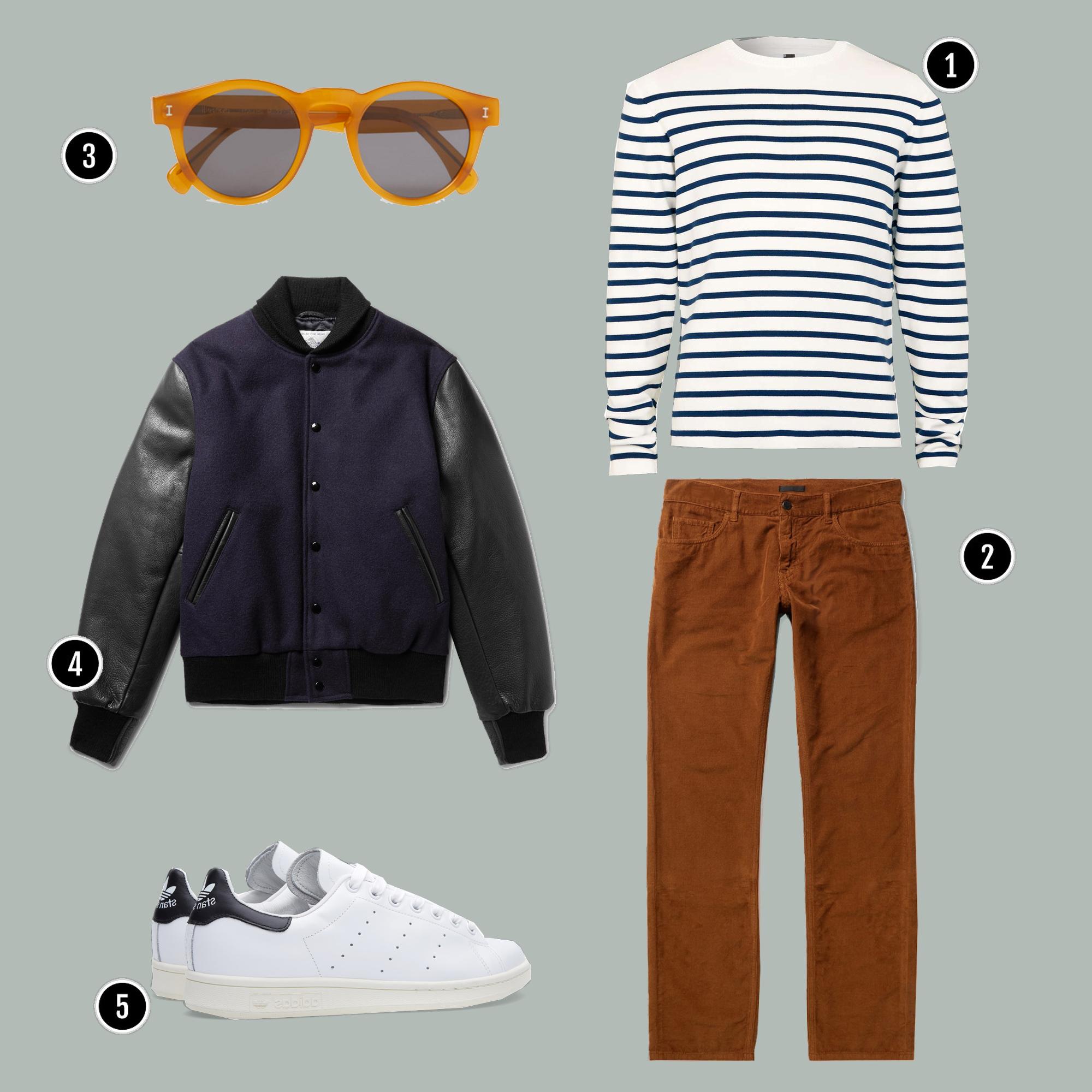 1. Áo: Topman/ 2. Quần: Gucci/ 3. Kính: ILLESTEVA / 4. Áo: Golden Bear / 5. Giày: Alexander Mcqueen