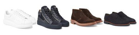 mẹo phối giày với quần jeans nam tapered-fit