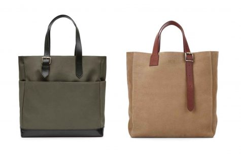 Trái Contrast tote bag £195 Phải The 'A' Tote $520.00