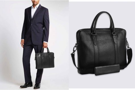 Pebble Grain Leather Briefcase £79.00