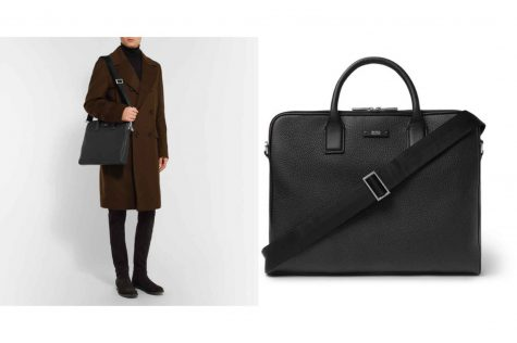 Textured-Leather Briefcase £450